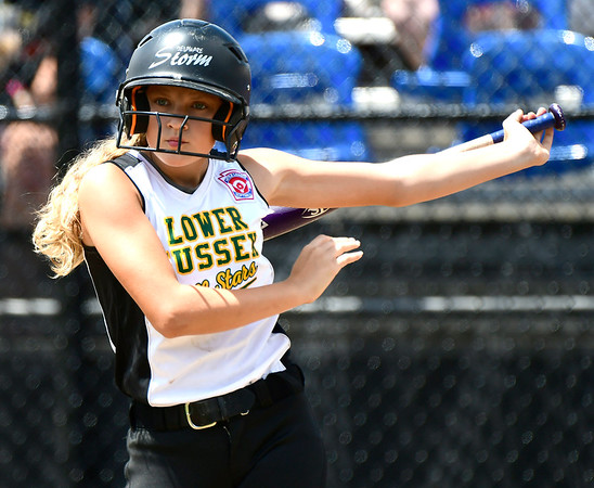 7/25/2018 Mike Orazzi | Staff Delaware's Olivia Hitchens (86) at Breen Field in Bristol Tuesday afternoon.