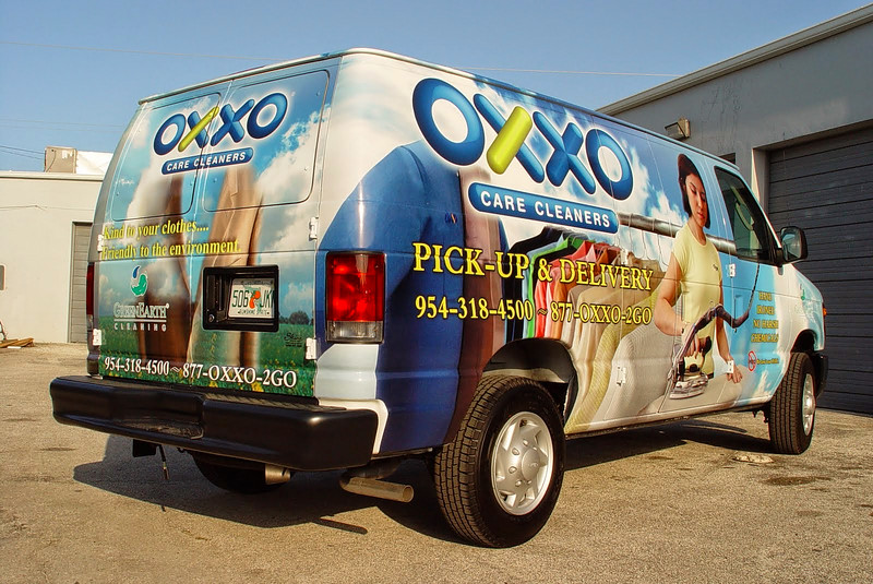 Van Wrap for Oxxo Care Cleaners in South Florida http://www.skinzwraps.com