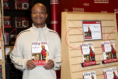 """New York, NY - March 16:  The book signing for Todd Bridges promoting """"Killing Willis"""", New York, USA"""