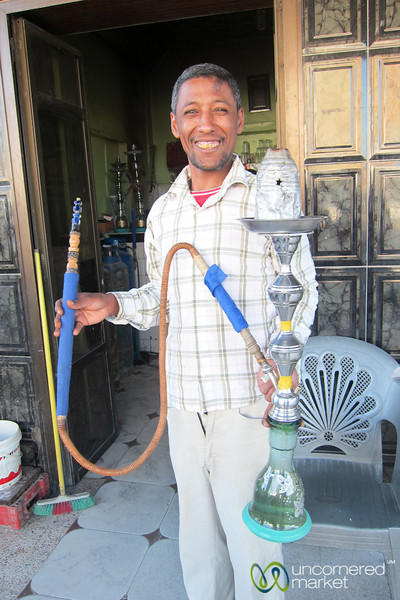 Egyptian Man and Hookah Pipe - El Quseir, Egypt