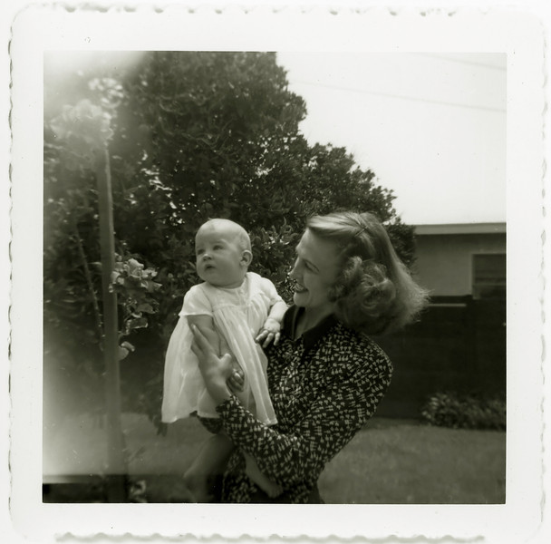 Mom and Susan. Los Angeles, May 17, 1953.