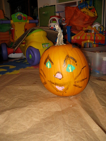 10-23 Pumpkin painting