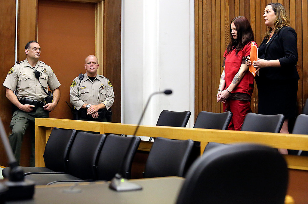 . Alix Tichelman is arraigned on Wednesday on manslaughter charges for the death of Google executive Forrest Hayes as she appears in Santa Cruz County Superior Court with public defender Athena Reis. (Shmuel Thaler � Santa Cruz Sentinel)