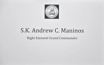 Right Eminent Grand Commander Andy Maninos Reception