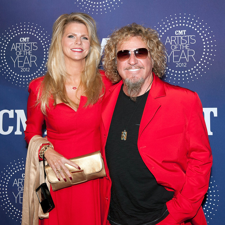". Kari Karte and Sammy Hagar attend the 2012 CMT ""Artists Of The Year\"" Awards at The Factory At Franklin on December 3, 2012 in Franklin, Tennessee.  (Photo by Erika Goldring/Getty Images)"