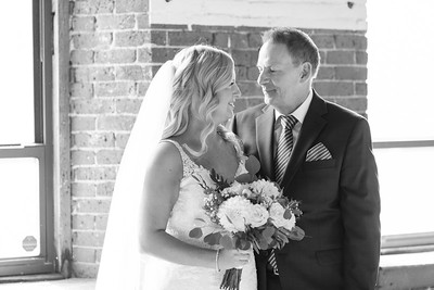 Father Of Bride First Look- Abby Martin & Jon Zuber Wedding October Fall Autumn New England Photographer Industrial Candid Natural Fun Formal Portraits Mill One Open Square Holyoke Ma Massachusetts Mass Kimberly Hatch Photography Westfield Springfield Nor