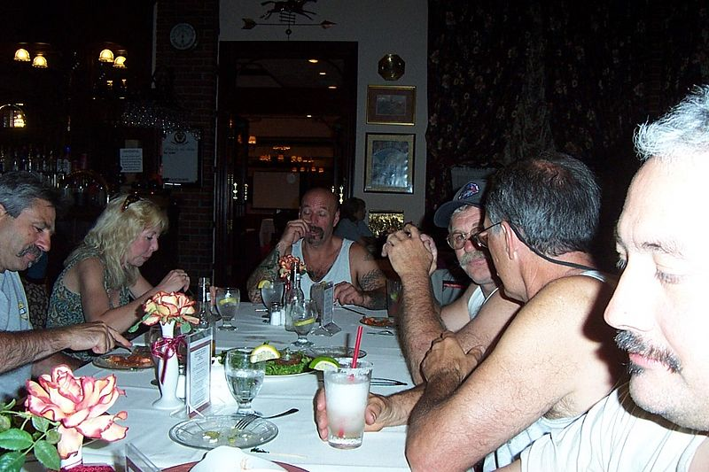 Warren demonstrating bad table manners