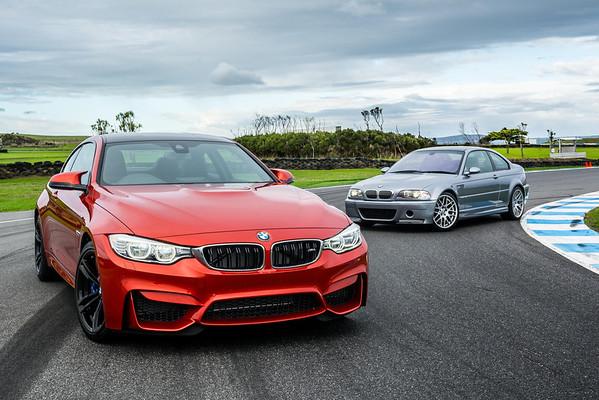 BMW M3 Sedan (F80), M4 Coupé (F82) and M3 CSL (E46)