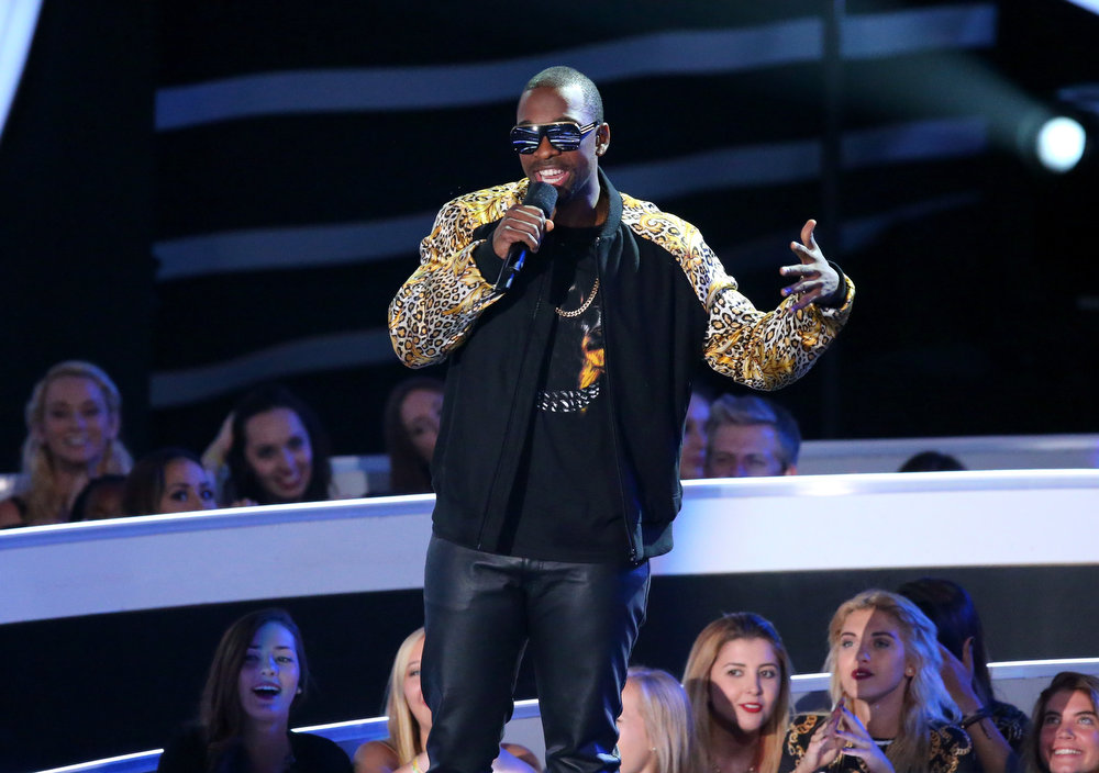 . Comedian Jay Pharoah speaks onstage during the 2014 MTV Video Music Awards at The Forum on August 24, 2014 in Inglewood, California.  (Photo by Mark Davis/Getty Images)