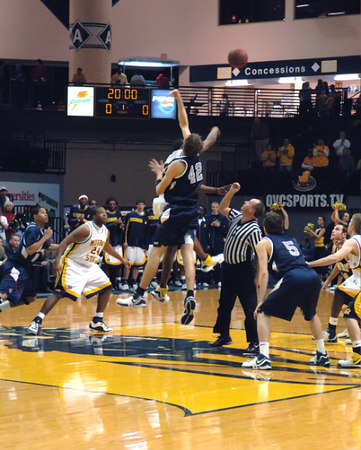 MSU Men's Basketball vs. Samford University In The First Round OVC Tournament Playoffs  -  February 27, 2007.   Racers Lose.
