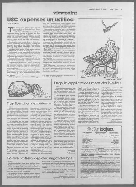 Daily Trojan, Vol. 106, No. 44, March 15, 1988