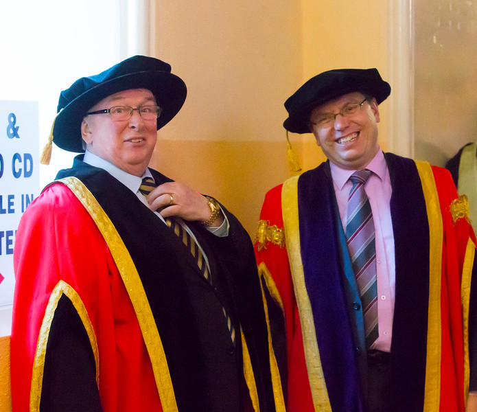 Waterford Institute Of Technology Conferring. Pictured at WIT Waterford Institute Of Technology Conferring are Dr Donnie Ormonde Chairman WIT and Dr. Ruaidhrí Neavyn, President, WIT. Picture: Patrick Browne