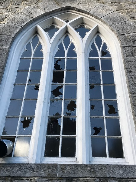 Windows smashed in St Catherines Church