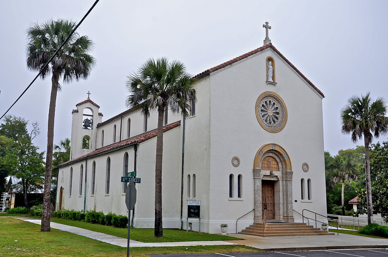 The historic St. Patrick's Catholic Church that was built in 1929.