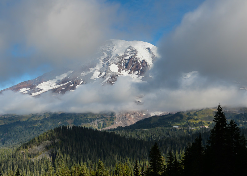 Mt. Rainier from Pinnacle Peak Trail