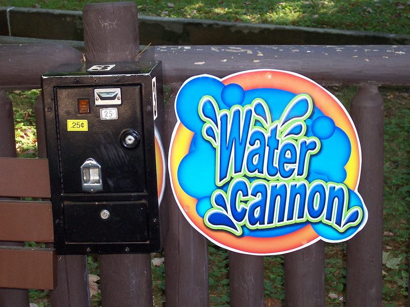 A new Water Cannon sign.