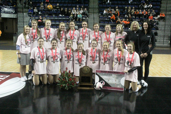 Class 2A state volleyball title match: Western Christian versus Unity Christian 11-9-18