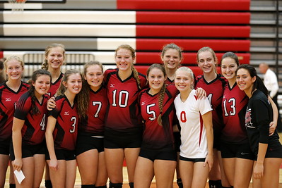 Girls Varsity Volleyball - 10/26/2017 Ludington, Big Rapids (Seniors Night)