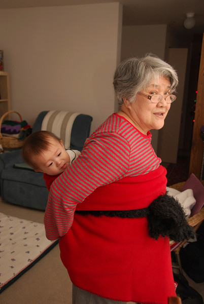 Ba Thanh gets a ride with Grandma