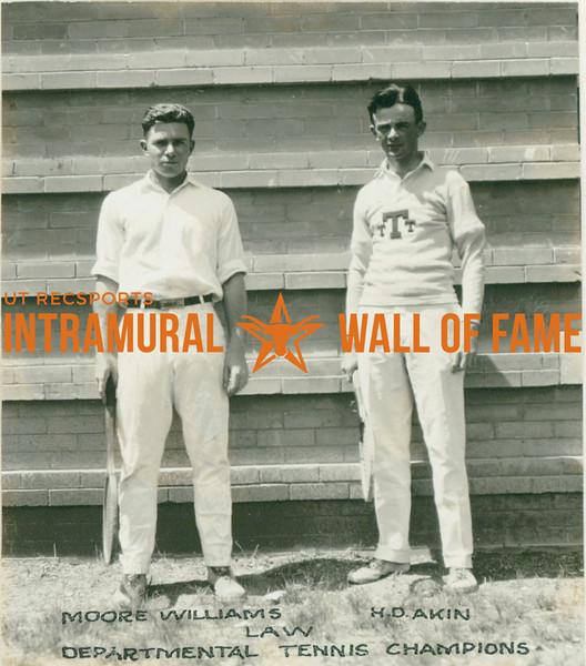TENNIS Departmental Champions  Law  Moore Williams & H. D. Akin