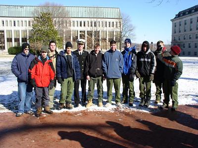 Troop 54 at Naval Academy Camporee, Feb. 2003, ZERO DEGREE WINTER CAMPING