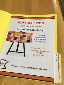 2019 10 24: Saint/St Peter, Minnesota, MN SOPHE meeting