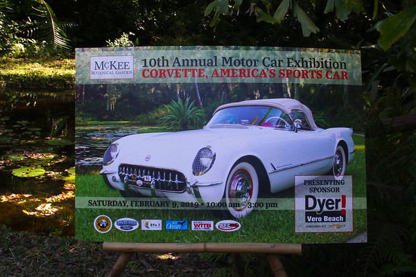 February 9, 2019, Vero Beach's McKees Botanical Garden hosts the Corvette Car Show