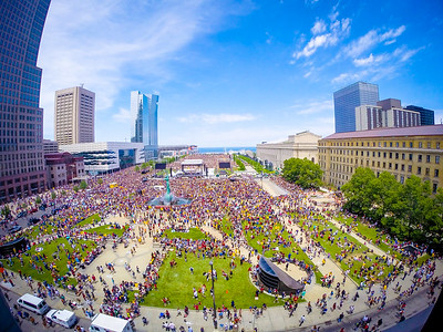 Cleveland Cavs Championship Rally Timelapse