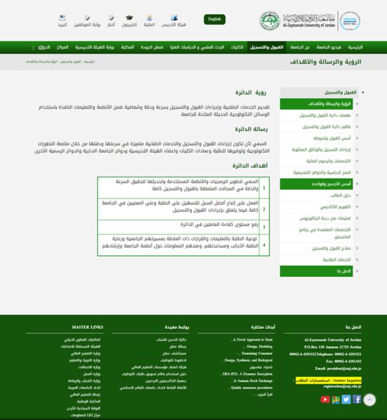 الرؤية والرسالة والأهداف   Al-Zaytoonah University (1).png