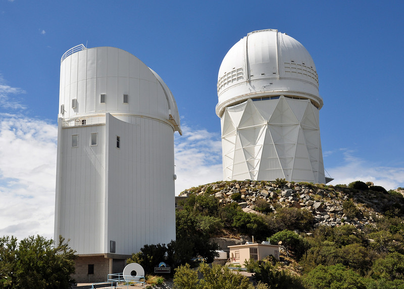 On the way back north, I rode to the top of Kitt's peak.  This mountain houses about 25 telescopes from Universities and NASA.  Its pretty impressive.