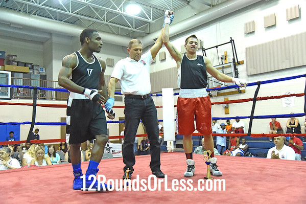 Bout 2 KC Austin, Red Gloves, 22 years, 155 lbs, Cleveland -vs- Branson Price, Blue Gloves, 25 yrs, 152 lbs, Akron