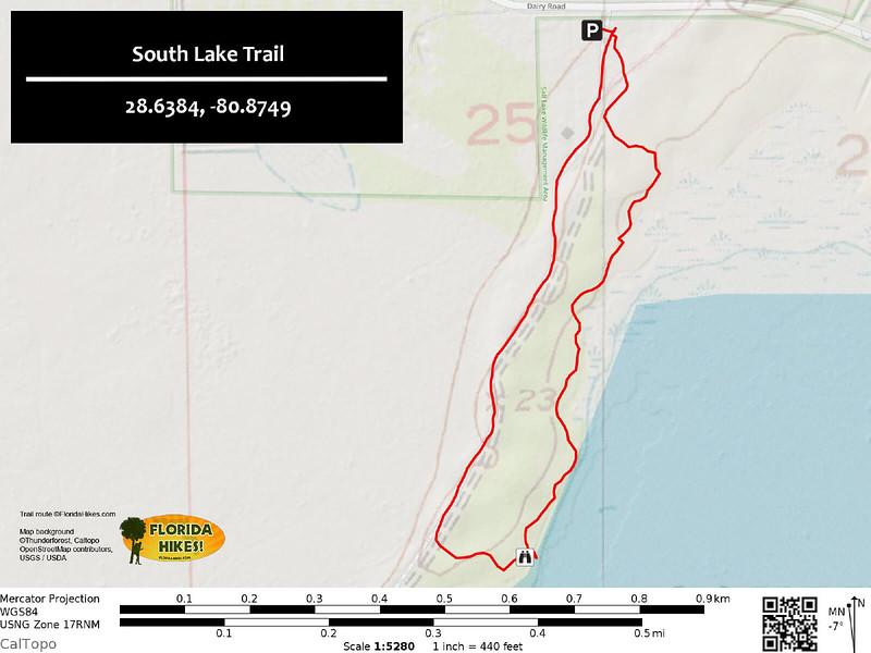 South Lake Trail Map