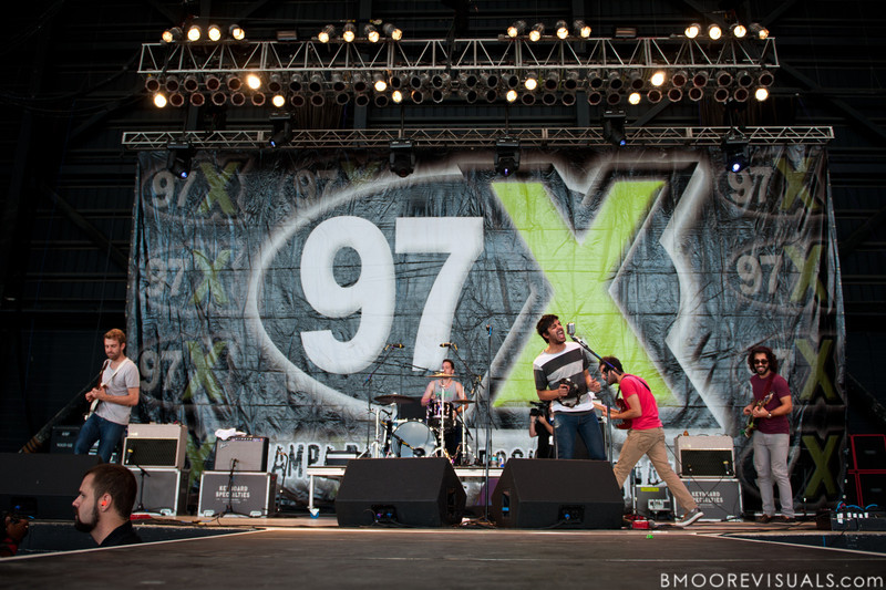 Jacob Tilley, François Comtois, Sameer Gadhia, Eric Cannata, and Payam Doostzadeh of Young The Giant perform on December 3, 2011 during 97X Next Big Thing at 1-800-ASK-GARY Amphitheatre in Tampa, Florida
