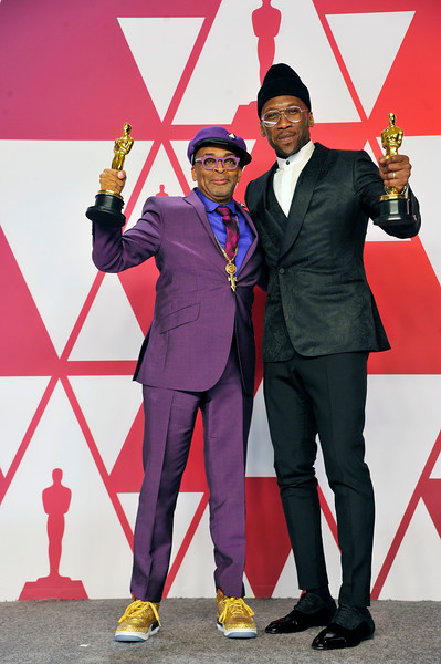 """ACADEMY AWARDS 91ST OSCARS PRESSROOM HELD AT THE LOWES HOTEL IN HOLLYWOOD CALIFORNIA ON FEBRUARY 24,2019. MAHERSHALA ALI BEST SUPPORTING ACTOR """"GREEN BOOK"""" & SPIKE LEE SCREEN PLAY """"THE BLACK KLANSMAN"""" PHOTOGRAPHER VALERIE GOODLOE"""