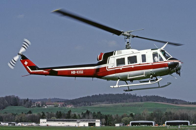HB-XXU Bell 205 Heli Var @ Bern Switzerland 12Apr91