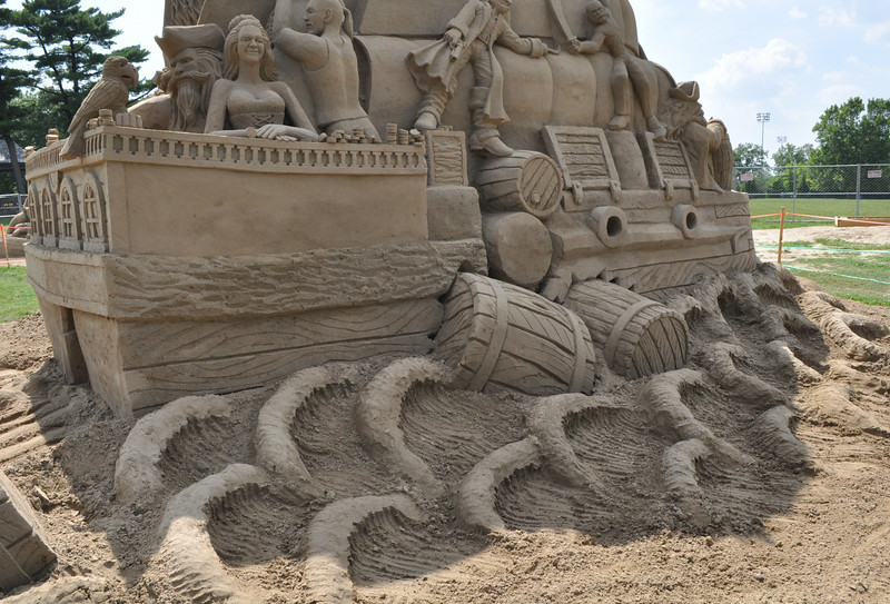 Garfield Park Sand Sculptures Completed
