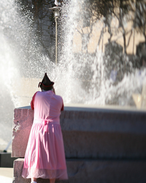 Pretty in Pink, Civic Center Fountain, San Francisco, October 2009