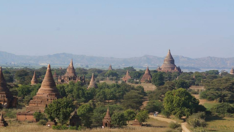 Temples on the Bagan plain, Myanmar