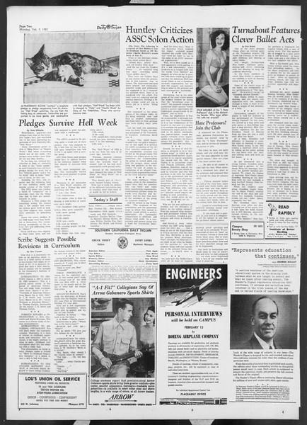 Daily Trojan, Vol. 44, No. 70, February 09, 1953