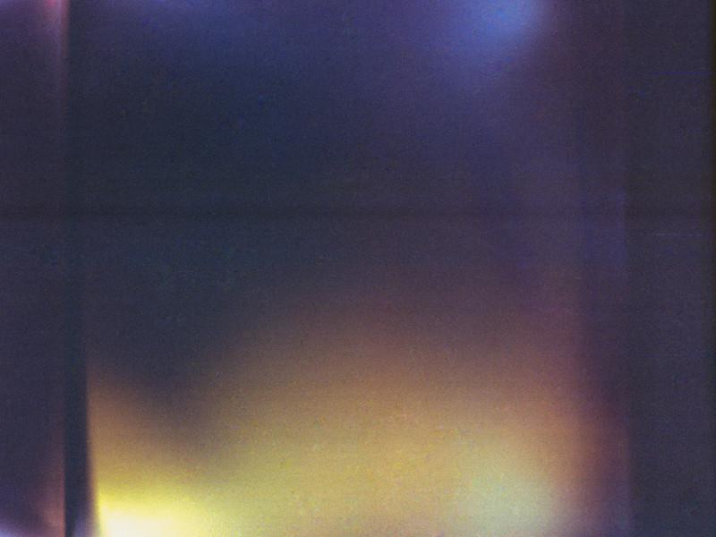 Light leaks on a scratch roll of 120mm film.