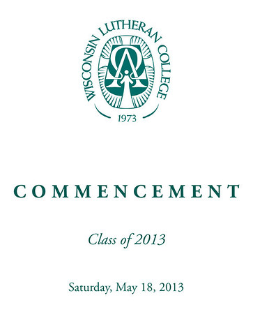 WLC Commencement 2013 Information