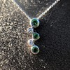 Tiffany & Co. Diamond and Tsavorite Bubble Pendant 21