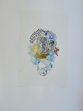 "Deco Series II-Mackey, painting on 22""x30"" paper"
