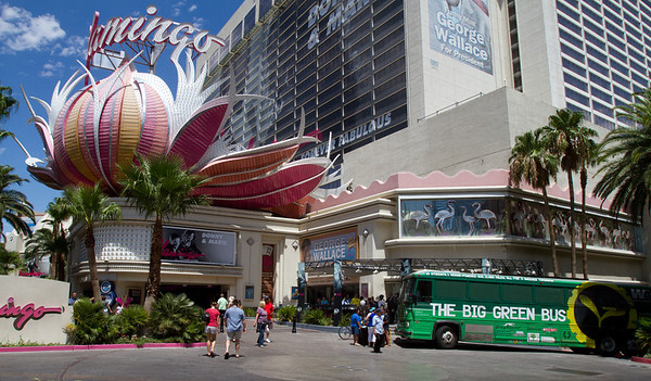 Big Green Bus in Las Vegas, NV 8/3/11