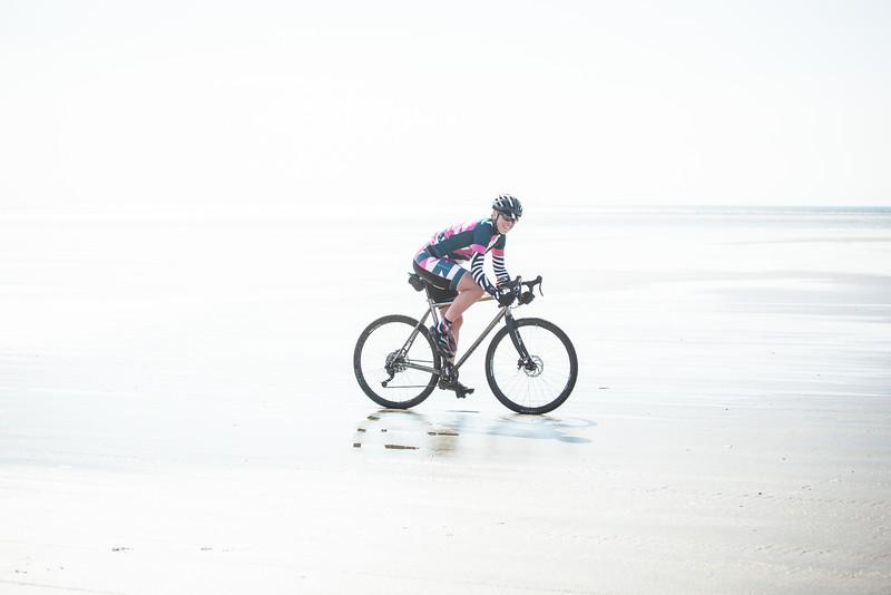 Team Morvelo rider storms Pembrey Beach during BOTB