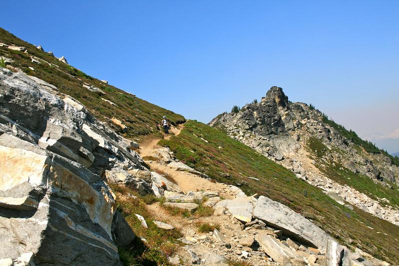 Beautiful High Pass ridge trail.