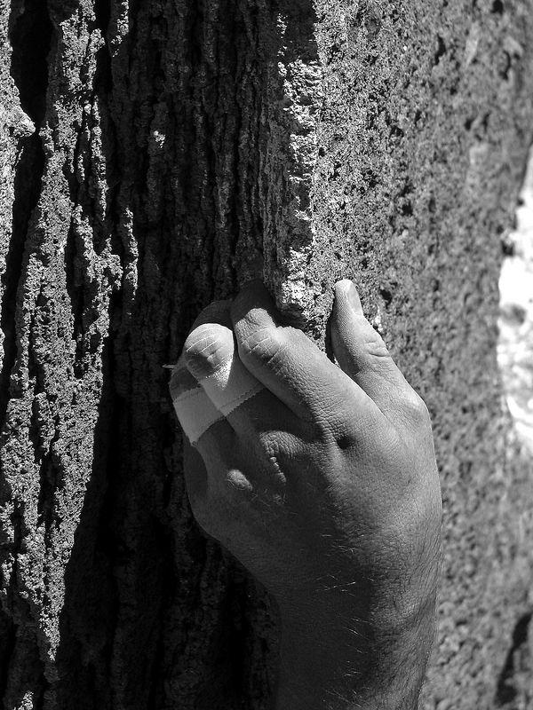 Paul's hand (I think) Clark Canyon