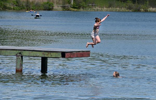 Swimming at Lake Paran - 052520