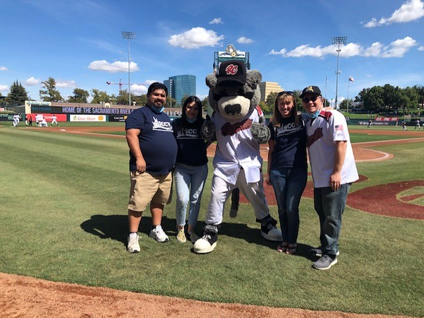 SCCY at the Sacramento River Cats, Kicking Off the Family Meal Campaign September 2021