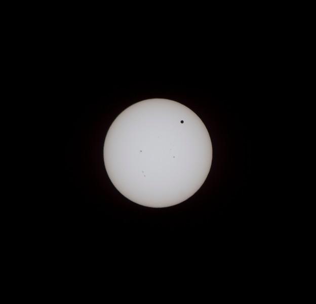Venus transiting the sun